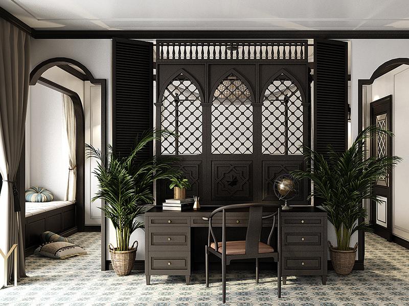 Thiết kế văn phòng đẹp theo phong cách Đông Dương
